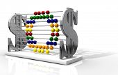 stock photo of sos  - A one of a kind abacus that outwardly promotes wealth yet unassumingly spells out the phrase SOS - JPG