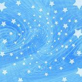Blue Twist With Stars