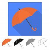 Vector Design Of Parasol And Water Symbol. Set Of Parasol And Water Stock Symbol For Web. poster