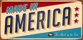 Vintage Made in America metal sign - Raster Version