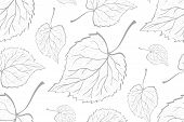 Decorative Ornamental Seamless Leaf Pattern. Template For Design Fabric, Backgrounds, Wrapping Paper poster
