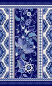 Colorful Ornamental Vector Design For Rug, Carpet, Tapis, Shawl. Seamless Ornamental Pattern. Geomet poster