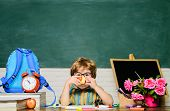 Lunch Time. Kid Boy From Primary School. Tasty Food. School Lunch. Schoolboy At Lunch Time. Funny Li poster