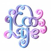 Eco Life. Neon Ink Lettering With Curls And Decorations. Stylish Quote For Modern Life. Save The Pla poster