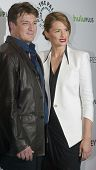 BEVERLY HILLS, CA - MARCH 9: Nathan Fillion and Stana Katic arrives at the 2012 Paleyfest