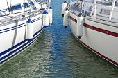 Colorful Motorboats On Calm Water
