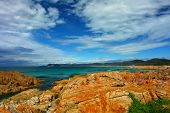 east tasmanian coast with rocks and