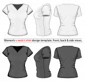 stock photo of v-neck collar  - Vector - JPG