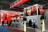 Hannover, Germany - March 5: Stand Of Mcafee On March 10, 2012 In Cebit Computer Expo, Hannover, Ger