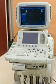 foto of medical equipment  - Ultrasonic scanning unit in the hospital  - JPG