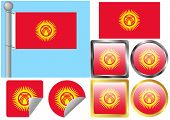 Flag Set Kyrgyzstan