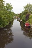 Dinghies In The Canal