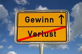 German Road Sign Deficit, And Profit