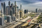 Traffic In The Big Metropolis, Dubai, United Arab Emirates, Jan.2018 poster