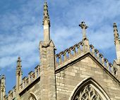 church cross and spires