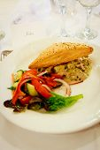 Chicken Pastry With Vegetables