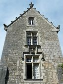 Medieval stone house in France