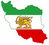 Flag Map Iran Illustration Geography  Country Nation Border poster