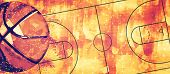 Basketball Banner Background. Abstract Basketball Background With Copy Space. poster