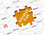 Puzzleteile mit Geschäftsbedingungen