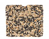 One Large Bird Seed Cake For Bird Feeder. A Specialty Treat That Birds Love, Popular For Wire Basket poster