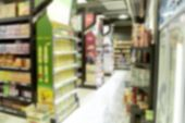 Empty Supermarket Blurry For Background poster