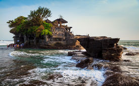 stock photo of tanah  - Temple in the sea - JPG