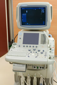 stock photo of medical equipment  - Ultrasonic scanning unit in the hospital  - JPG