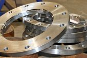 foto of spare  - New flanges in the workshop of the plant - JPG