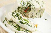 Постер, плакат: Белого сыра брынза Roll с овощами