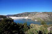 Reservoir and dam, Las Alpujarras, Andalusia.