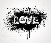 Grunge Syle Love Background Vector