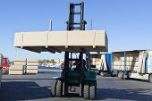 Green Fork Lifter Truck And Cargo Box