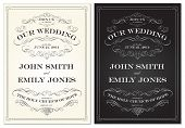 Vector Old Fashioned Wedding Frame Set. Easy to edit. Perfect for invitations or announcements.