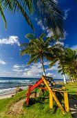 Colorido Banco en Costa Caribe