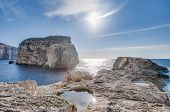 Fungus Rock, On The Coast Of Gozo, Malta