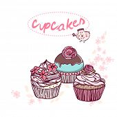 bakery design with cupcakes