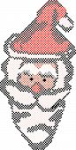 8-Bit Santa Face