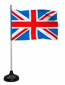 Flag Of The United Kingdom With Flagpole