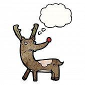 image of rudolf  - cartoon reindeer - JPG
