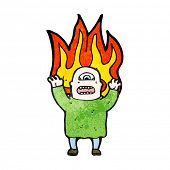 ogro dos desenhos animados no fogo