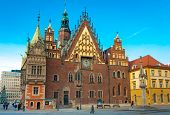 WROCLAW, POLAND - DECEMBER 29: Old city hall on December 29, 2012 in Wroclaw, Poland. The World Game