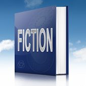 stock photo of short-story  - Illustration depicting a book with a fiction concept title - JPG