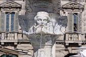 Ancient Fountain At The Piazza Delle Erbe In Verona