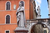 Piazza Dei Signori, With The Monument Of Dante In Verona