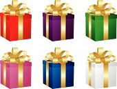 Set Of Six Gift Boxes