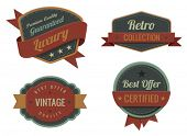 Vintage Labels template collection.  Luxury Retro design. Extra High quality Vintage. 3D Vector.
