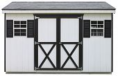 dual door storage shed