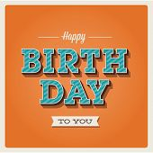 Happy birthday card, font type