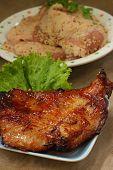 Pork grilled